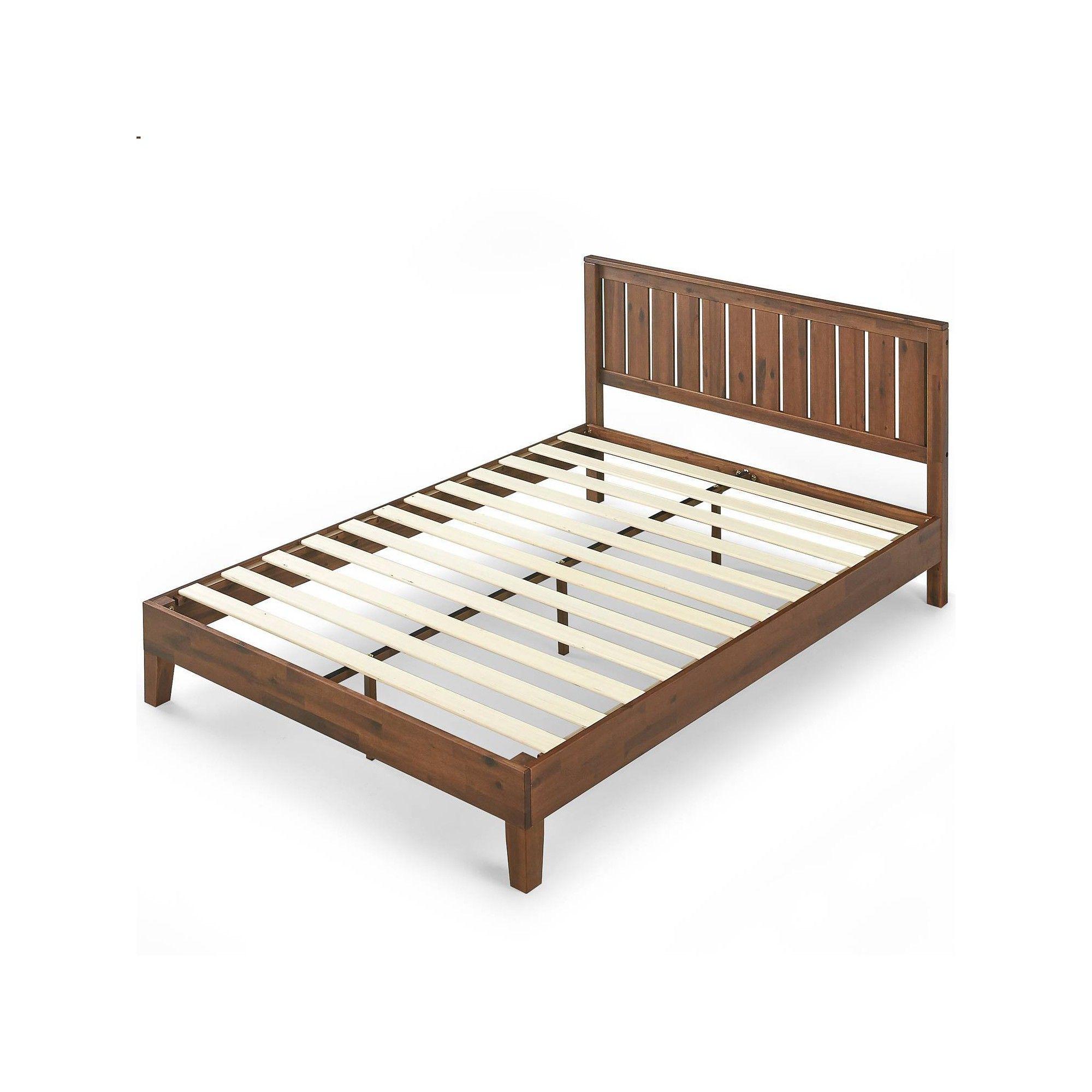 King Vivek Deluxe Wood Platform Bed With Headboard Antique Wood Zinus Headboards For Beds Wood Platform Bed