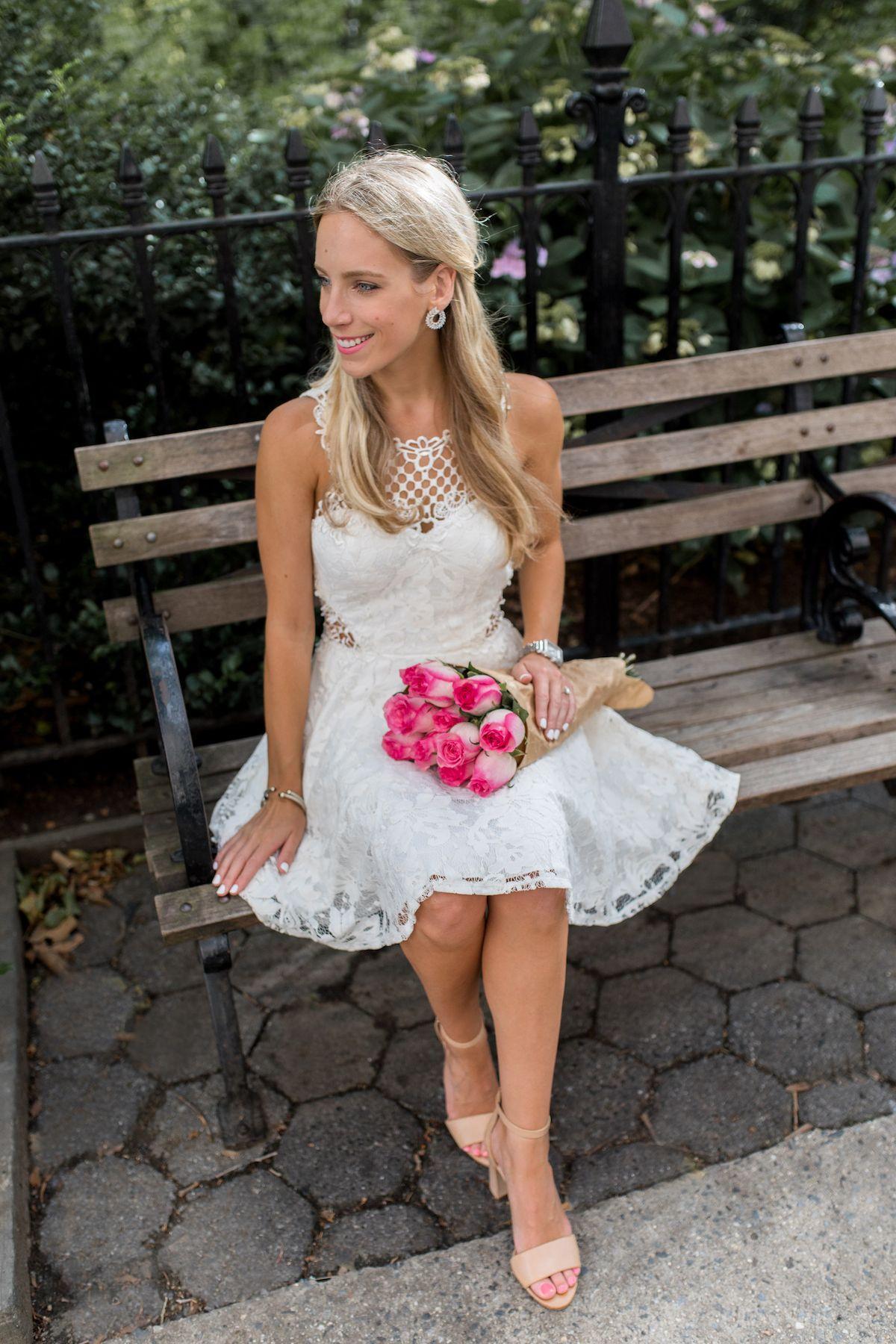 ba0606fd7f1e Little White Dress <3 | KatiesBliss.com | Davids bridal, Wedding ...