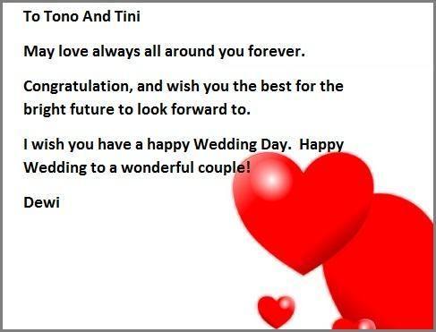 Contoh Kartu Ucapan Greeting Card Untuk Wedding Day Project 4