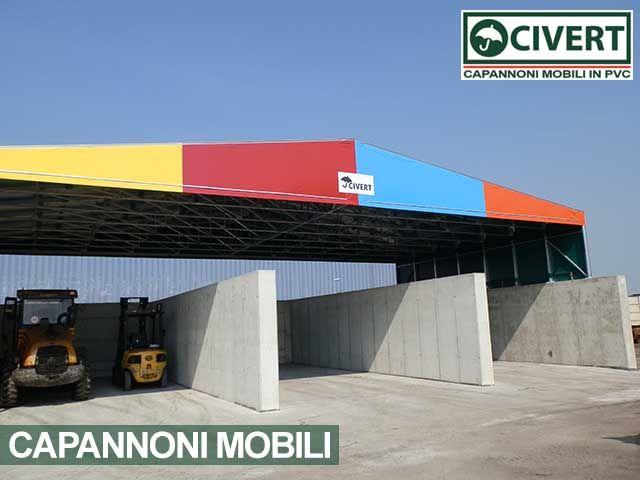 Tettoie Mobili ~ Capannoni pvc per tettoie mobili tettoia mobile con frontalino