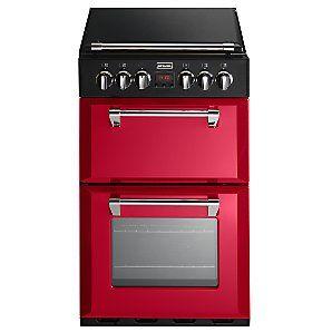 Stoves Richmond 550E Electric Mini Range Cooker, Jalapeño Red