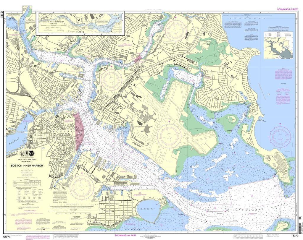 NOAA Nautical Chart 13272: Boston Inner Harbor