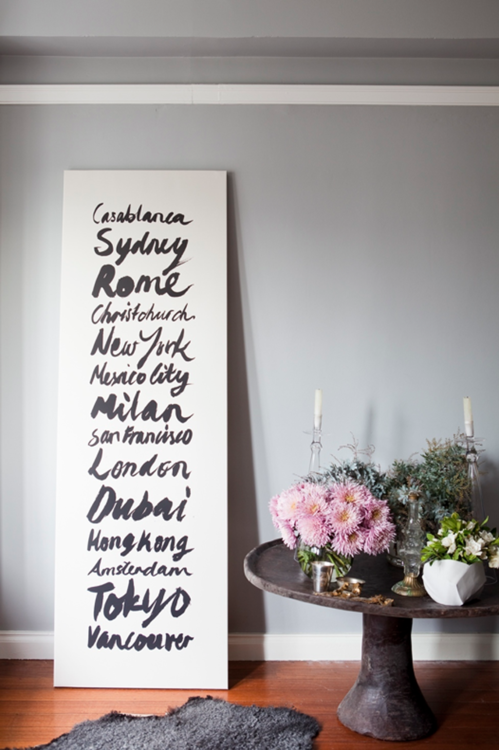 Places I want to go - Great DIY canvas idea