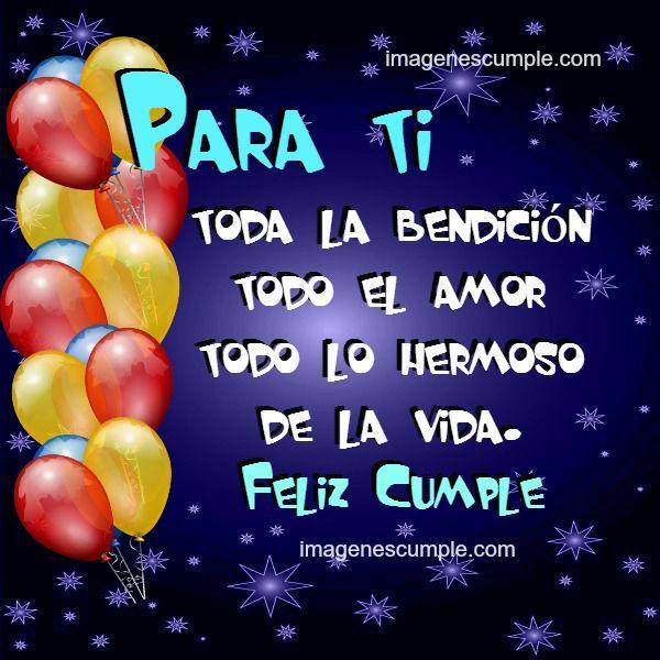 Frases Cumpleanos Imagen Bonita Poema Pinterest Happy Birthday