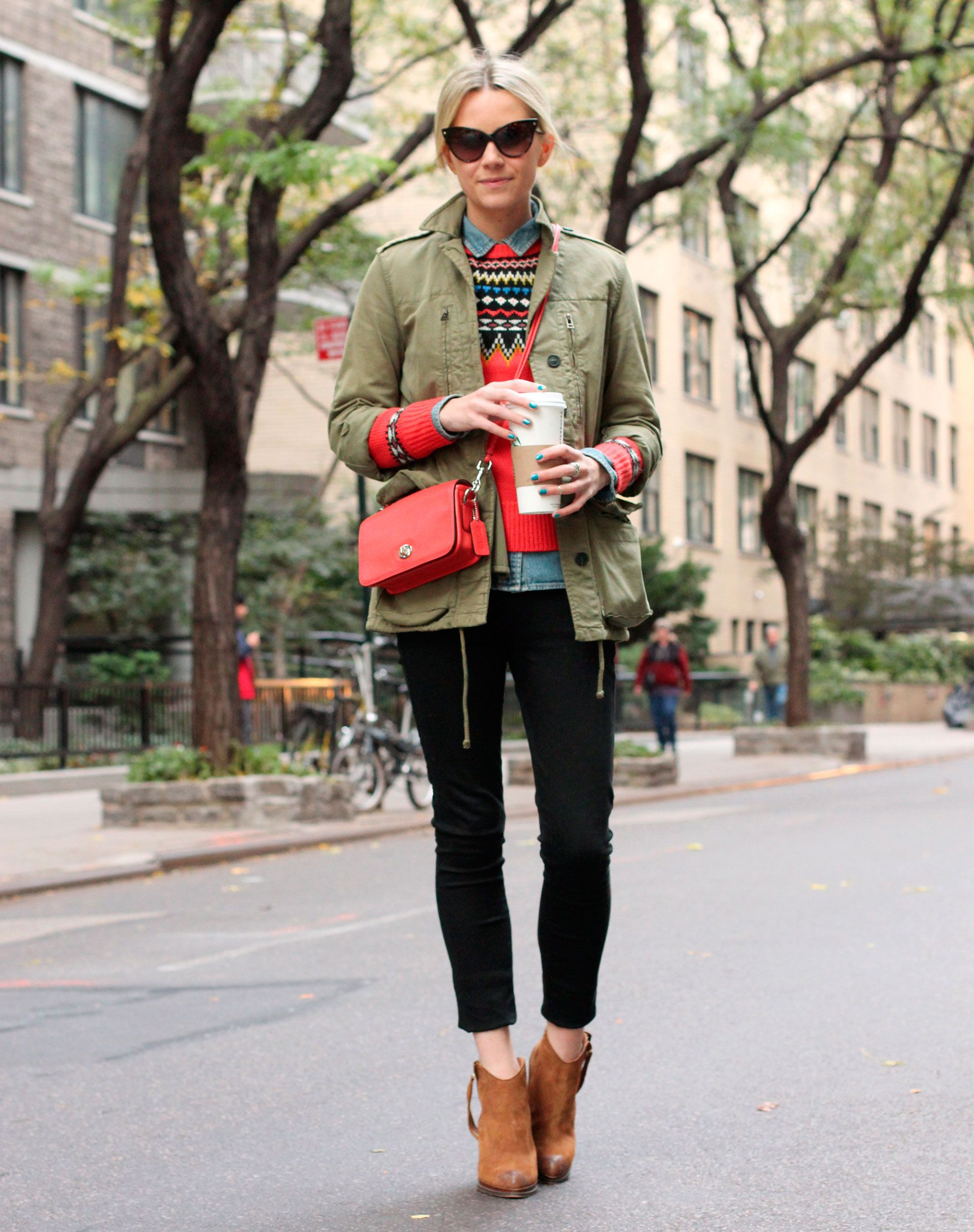 Street Style: How Real Women Wear Army Jackets | Jacket outfit ...