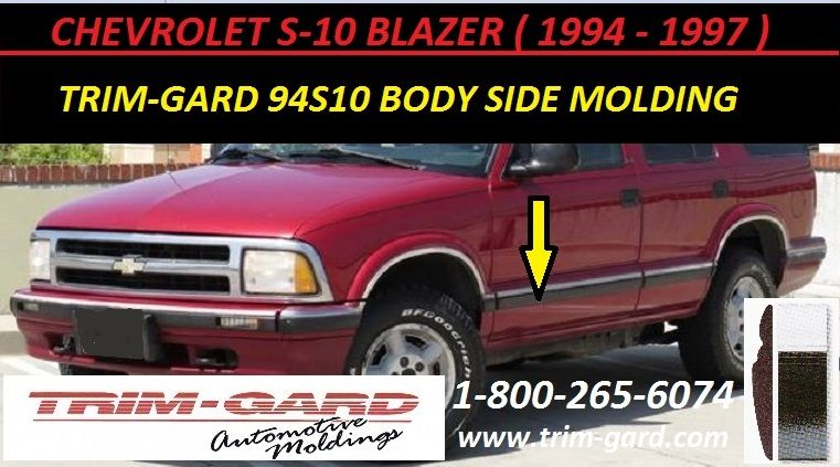 1994 1995 1996 1997 Chevrolet S10 Blazer Body Side Molding Trim Gard Manufacturers The Chevy S10 Blazer Body Side Mold Moldings And Trim Chevy S10 Chevrolet
