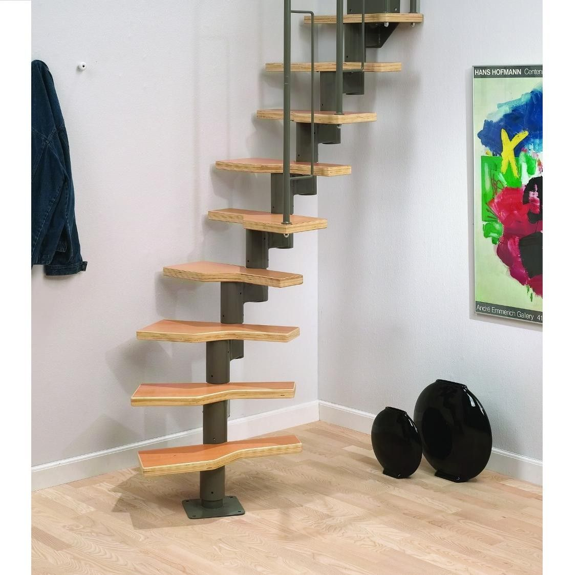 Loft Stairs For Small Spaces: Dolle Graz Space Saving Stair Kit (Loft Stair