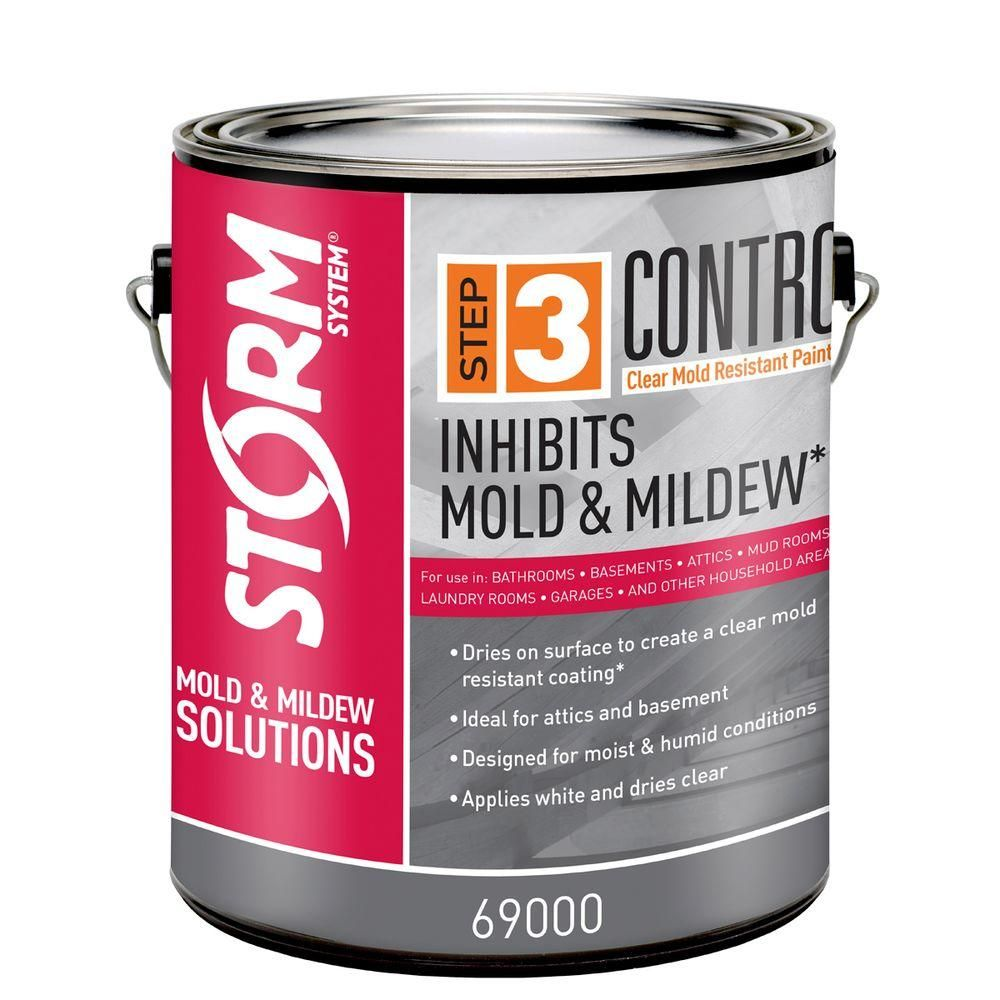 Storm System Step 3 Control 1 Gal Clear Mold And Mildew Resistant Paint 69000xx 1 The Home Depot Mold And Mildew Mold Resistant Paint Mildew Resistant