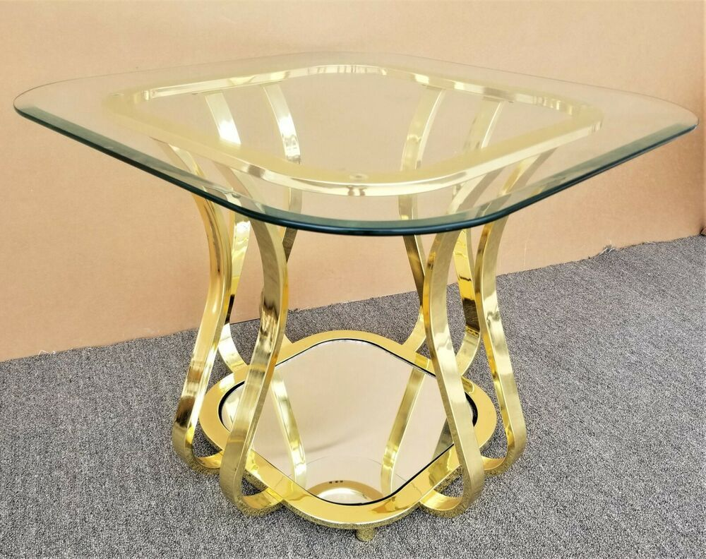 Mcm Sculptural Milo Baughman Style Brass Mirrored Side End Table Ebay In 2021 Brass Mirror End Tables Baughman [ 792 x 1000 Pixel ]