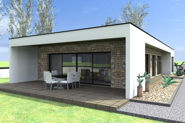 Constructeur maison contemporaine plain pied. Modèle Station Maisons ...