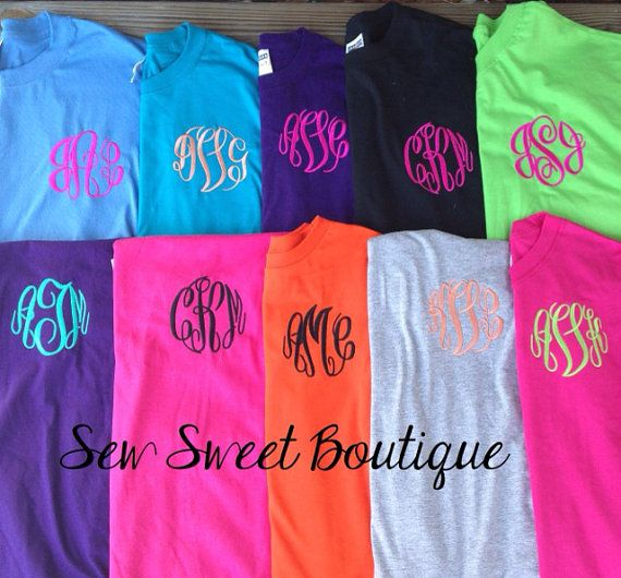 7cfb28d1dad66 SALE Monogrammed Tee Shirt by SewSweetBoutiqueLLC on Etsy | If it ...