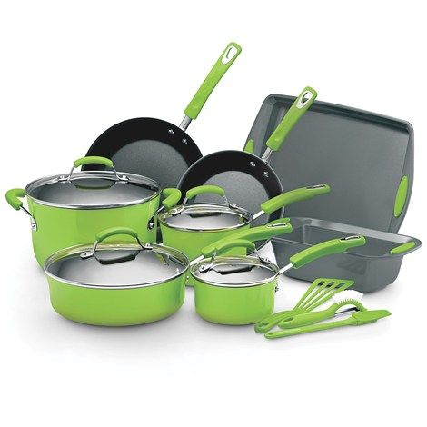 rachel ray 15pc cookware set green i bought this exact set but in dark blue