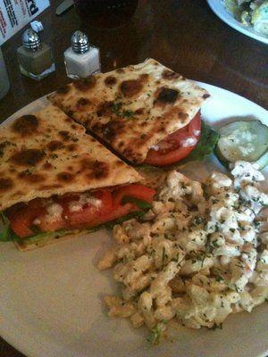 Yummy tomato sandwich from Low Country Backyard in Hilton Head, SC. Great restaurant!