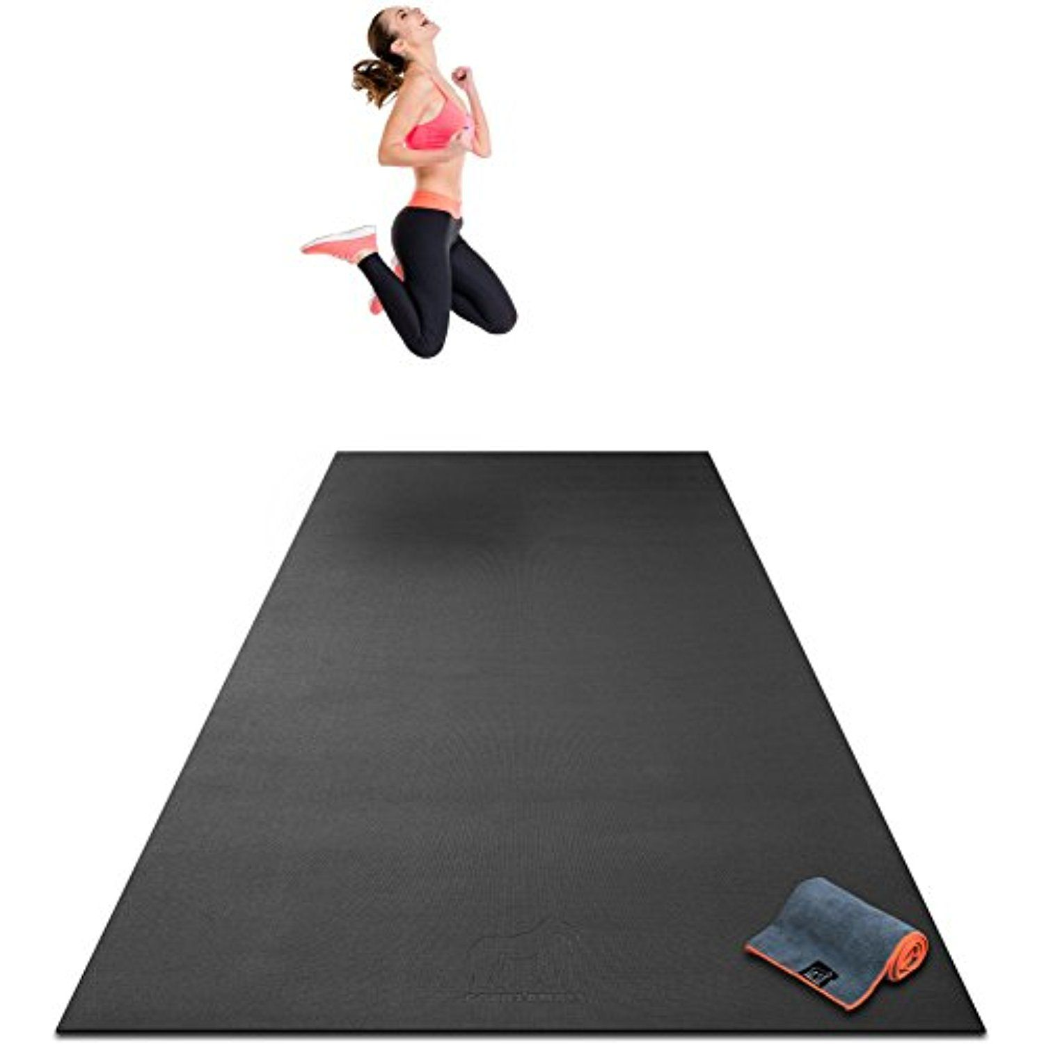 Premium Extra Large Exercise Mat 10 X 4 X 1 4 Ultra Durable Non Slip Workout Mats For Home Gym Flooring P Large Workout Mat Mat Exercises Gym Flooring