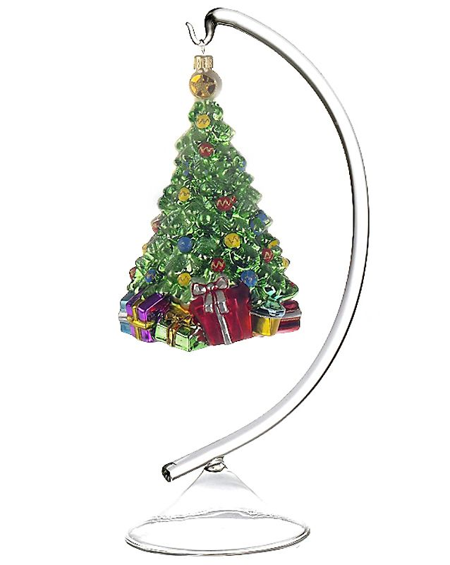 solid glass display stand small christmas ornament. Black Bedroom Furniture Sets. Home Design Ideas