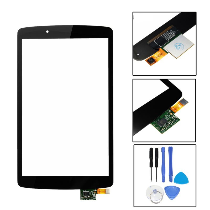 Touch Screen Digitizer Lens Replacement +Tools For LG G pad