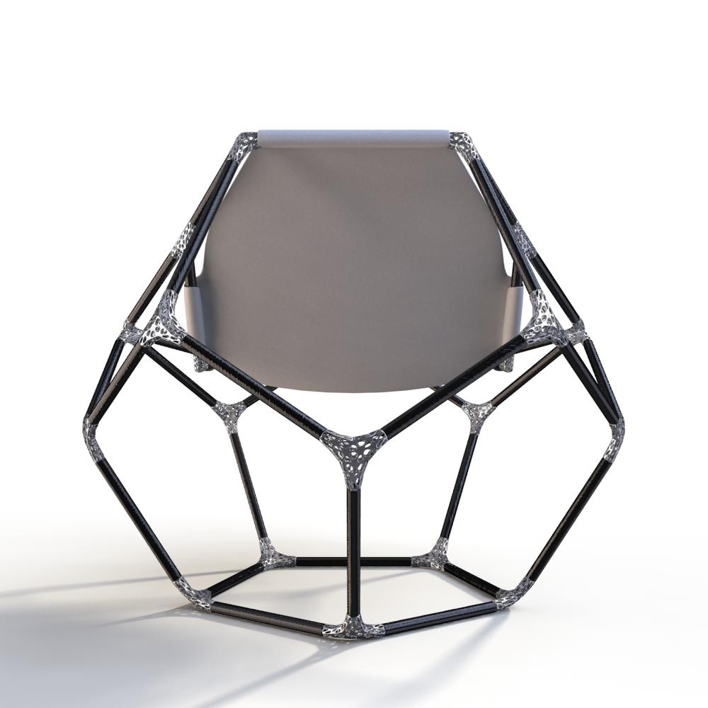 Carbon Fiber Chair Ti Join Carbon Fiber Tubes 3d Printed Titanium Joints Ti
