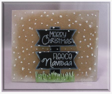 Card designed by Carolina Buchting for Gina K. Designs using Fleece Navi-baa
