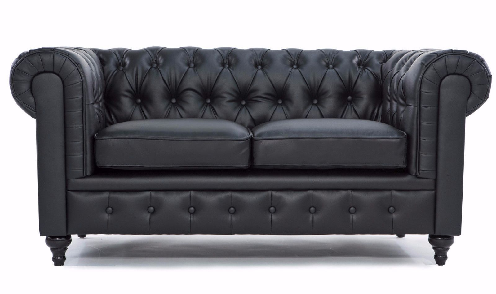 Charleston Classic Chesterfield Bonded Leather Loveseat