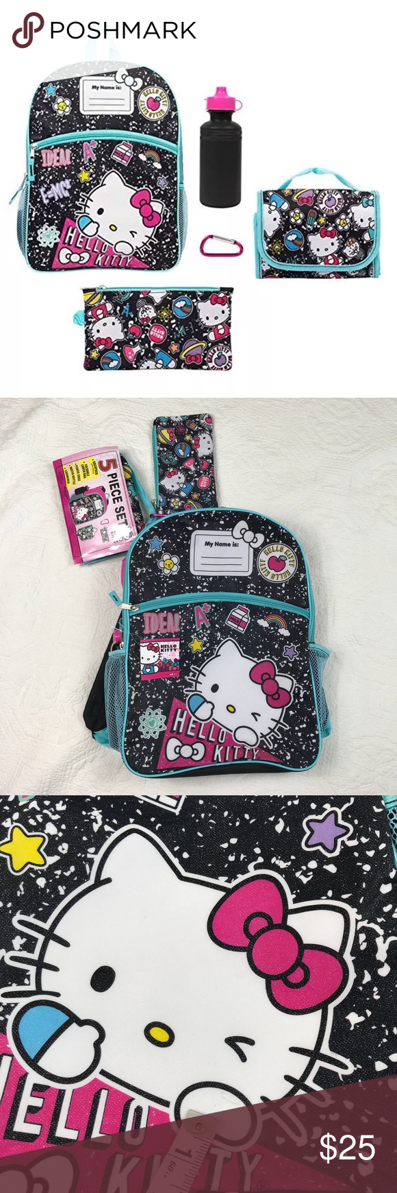 b942e2e4e HELLO KITTY 5 Piece Backpack Set NWT Great condition, small mark pictured  on front. Hello Kitty Accessories Bags