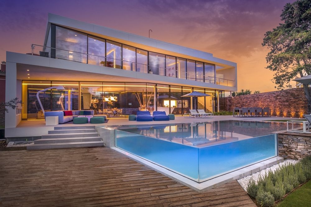 Smart Home Design Cool Blue Villa By 123dv Architecture Beast Holiday Home Glass House Design Dream House Exterior