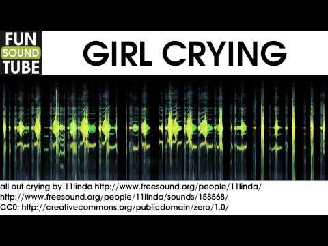 Girl Crying Sound Effect - YouTube   Sounds   Crying sound