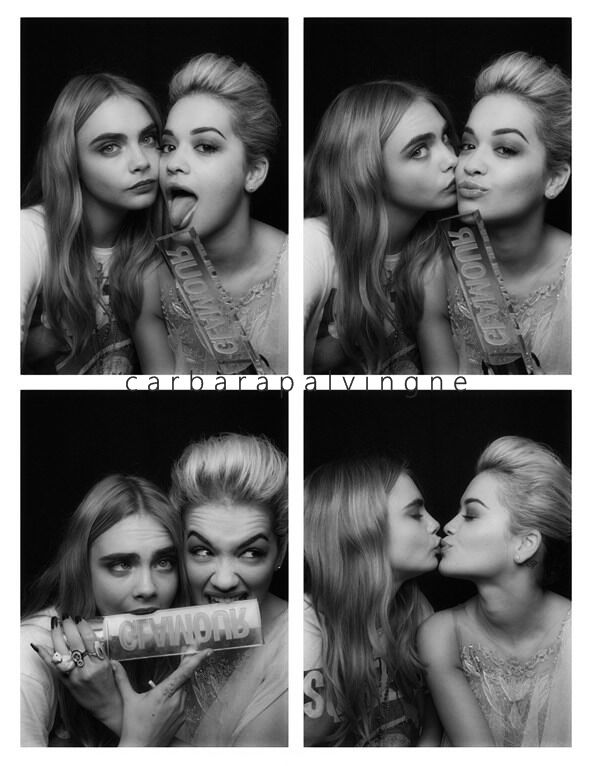 1901bf45 cara delevigne and rita ora kissing in a photo booth | Tomboy Style ...