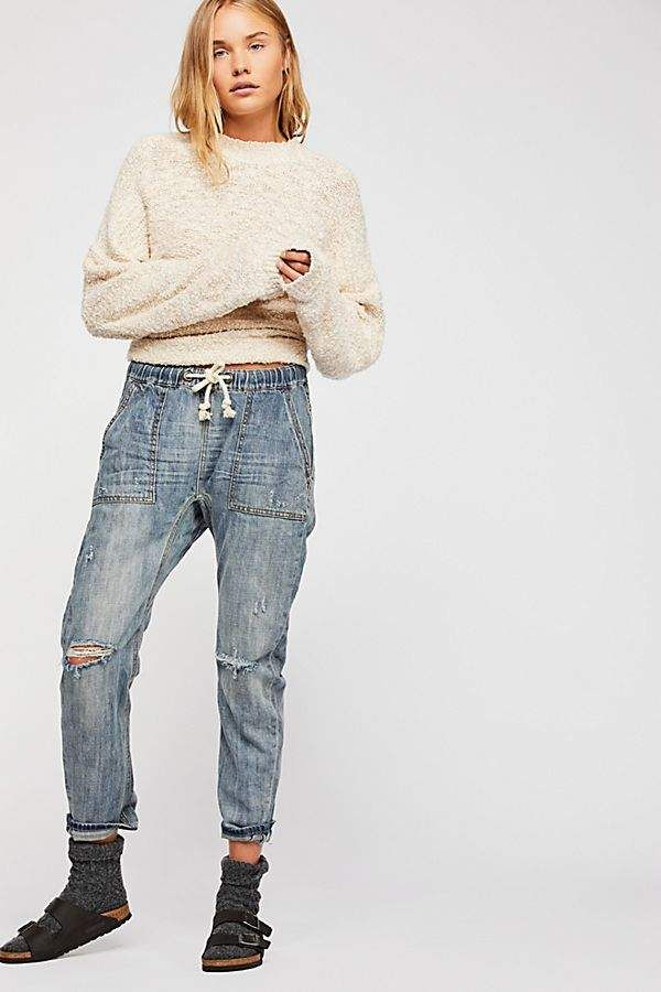 d7390d7d7ab One Teaspoon Oneteaspoon OneTeaspoon Shabbies Drawstring Boyfriend Jeans