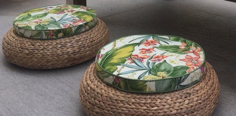 Chaise Pad Pads De Siege Rond Coussin De Chaise De Diner Coussins Exterieurs Coussins Exterieurs Tropical Chair Pad Tommy Bahama Fabric Chair Pads Seat Pads Chair Pads Tropical Chairs