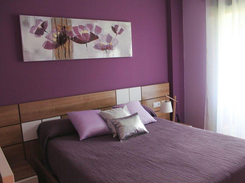 La casa de luc a recamara lilas y dormitorio for Habitaciones juveniles pintadas
