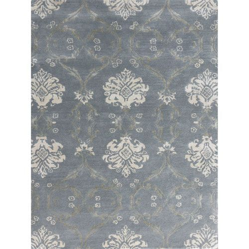 Serendipity Water Blue Rectangular: 7 Ft 6 In x 9 Ft 6 In Rug - (In Rectangle)