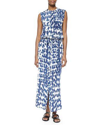 Ikat-Print Cargo Maxi Dress   Ikat print, Maxi dresses and Top designers c821cbe8c804
