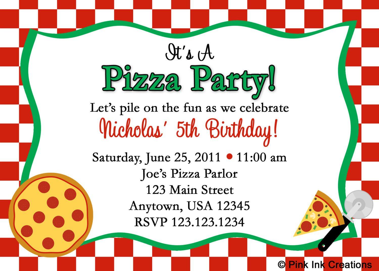 Minecraft Halloween Invitation | Pizza party birthday, Pizza party ...