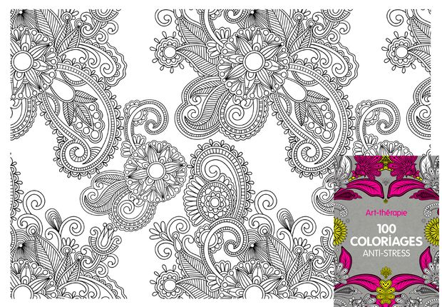 100 coloriages anti stress coloriage extrait de louvrage 100 coloriages anti stress
