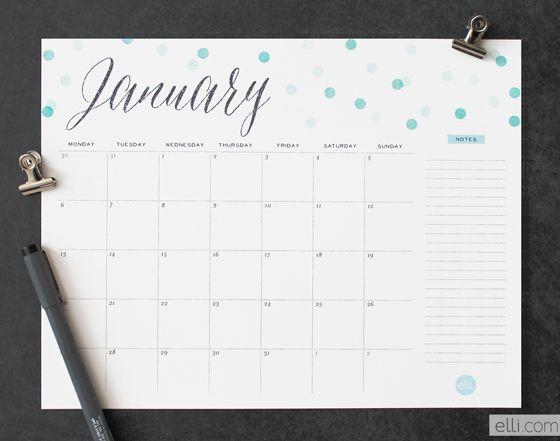 12 Cute Free Printable Calendars For 2014 Printable Calendars