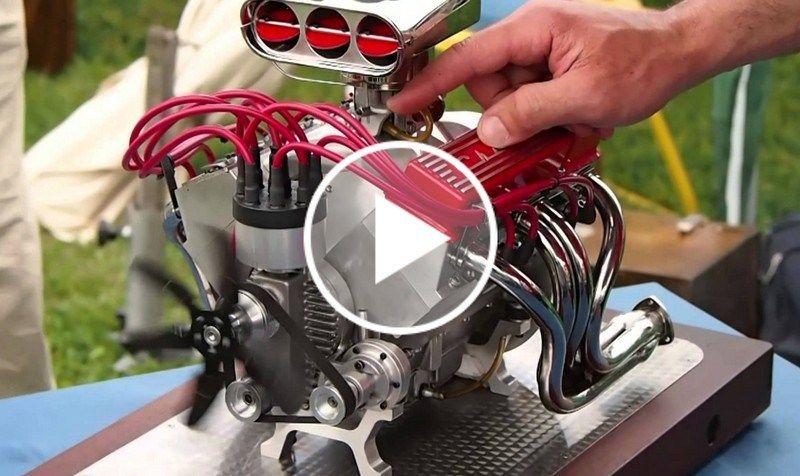 Super Sound This Miniature Chevrolet V8 Engine Is