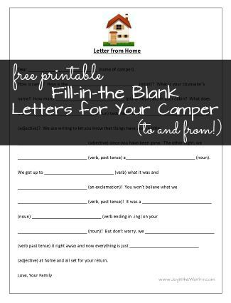 image regarding Printable Fill in the Blank Camp Letters named Fill-in just-the-Blank Letters in direction of (and Versus!) Camp Back again in the direction of