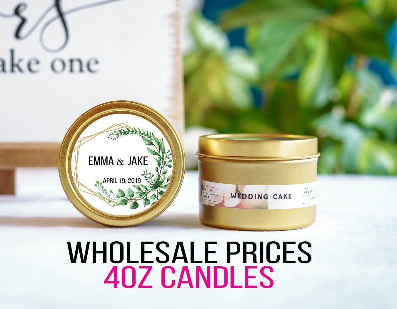 Wholesale Candle Wedding Favors for Guests