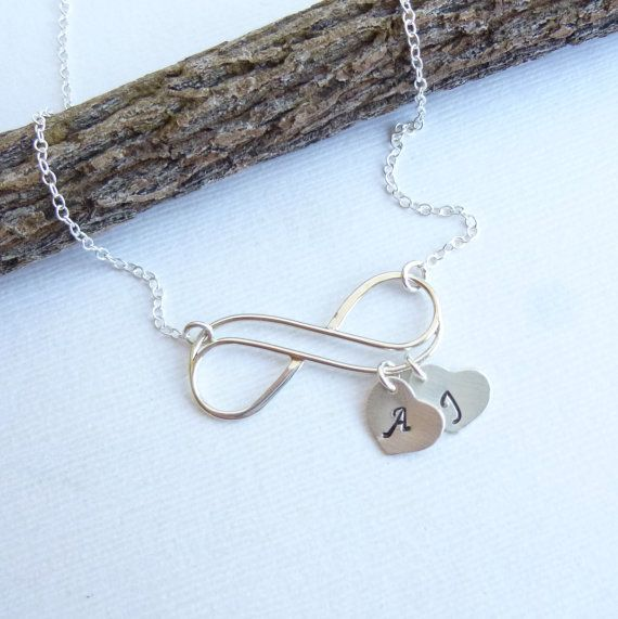 Sterling+Silver+Infinity+Initial+Heart+by+tinycottagetreasures,+$28.00