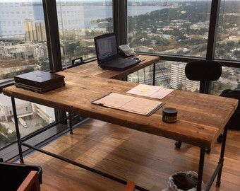 Solid Wood And Steel Office Desk Configured For Your Space Of Reclaimed  Wood And Your Choice Of Leg Style. We Offer Standing Desks, Computers  Desks, ...