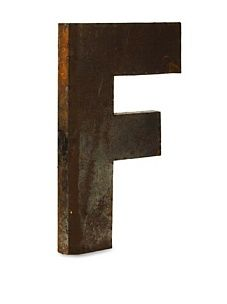 Metal letters for the family/playroom