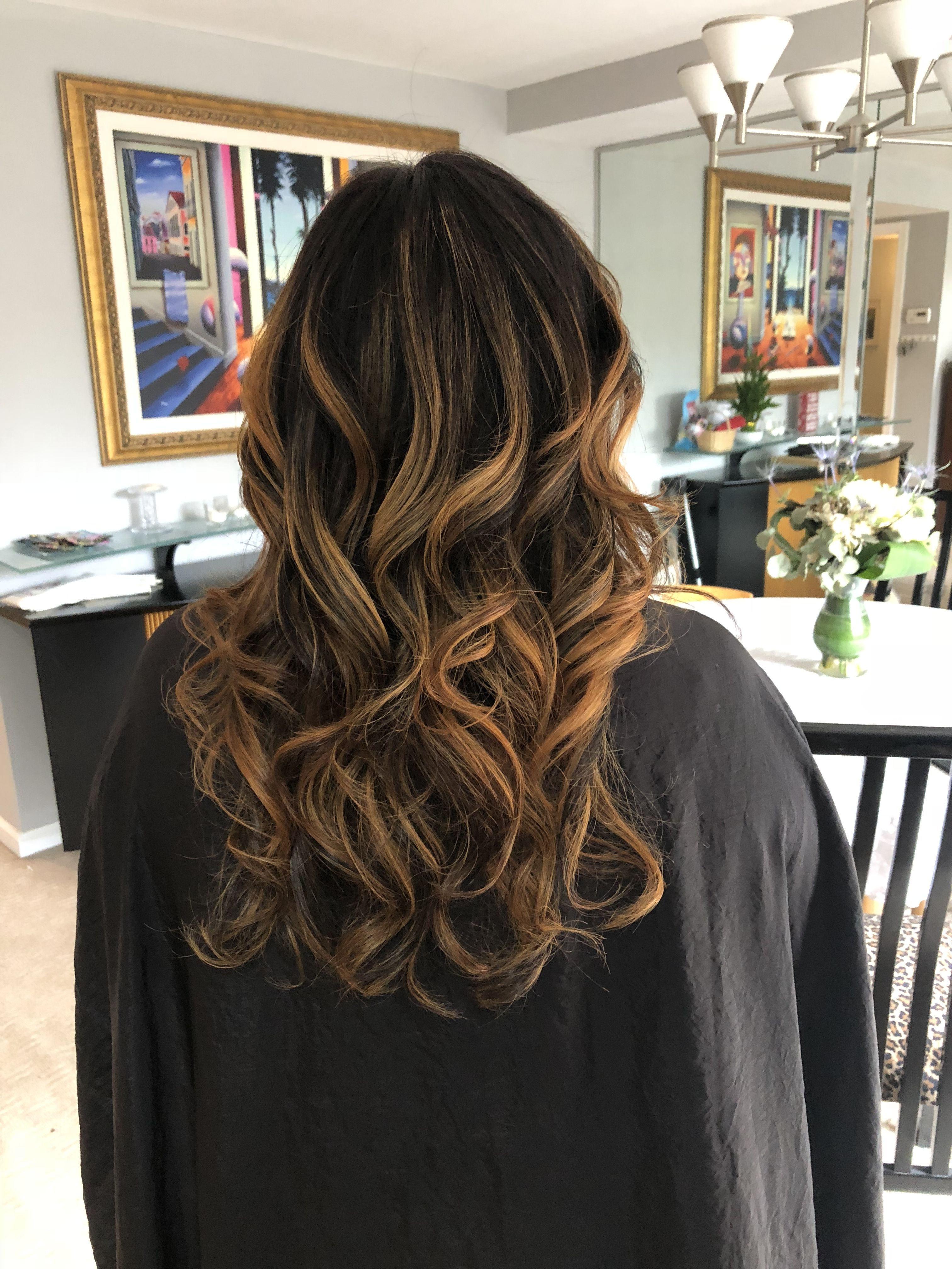 Asian Black Hair Balayage With Chocolate Copper Black Hair Balayage Hair Dye Colors Balayage Hair Caramel