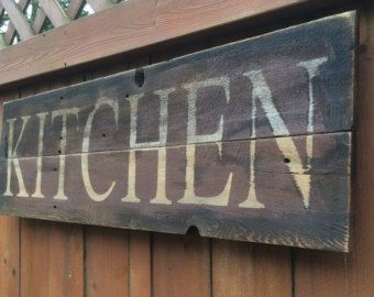 Rustic Kitchen Signs | Popular Items For Rustic Kitchen Sign