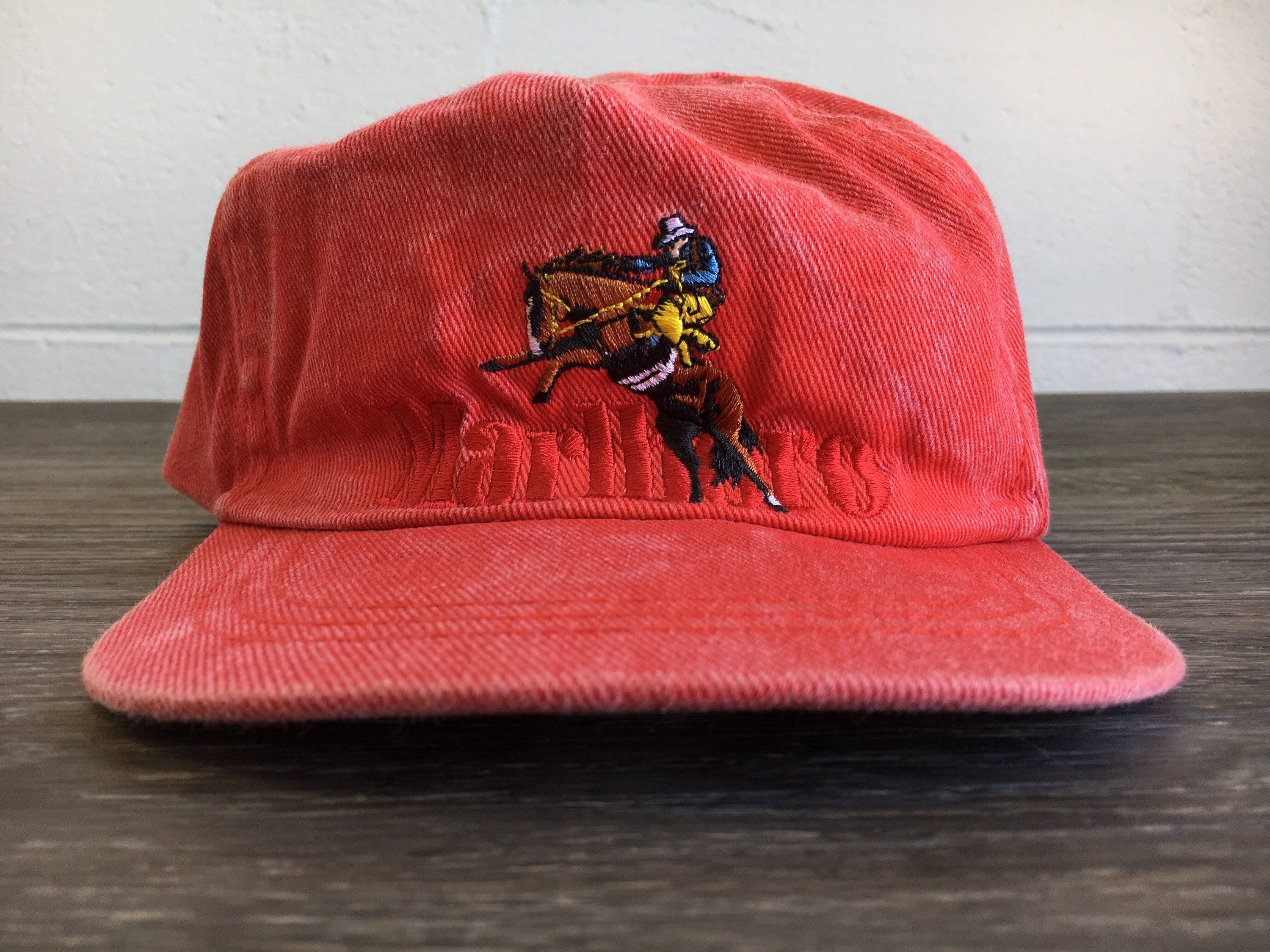 400df719d13 Marlboro Red Denim Hat Snapback Vintage 90s Cowboy Bucking Bronco Smoking  Cigarettes Iconic Heavy Sewn Graphic Cap by sweetVTGtshirt on Etsy