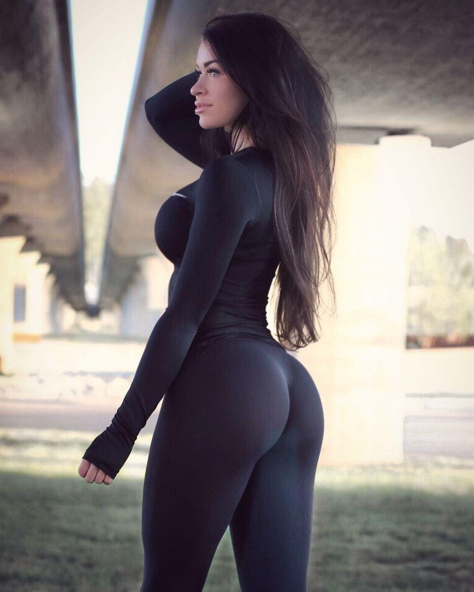 sexy brunette yoga pants