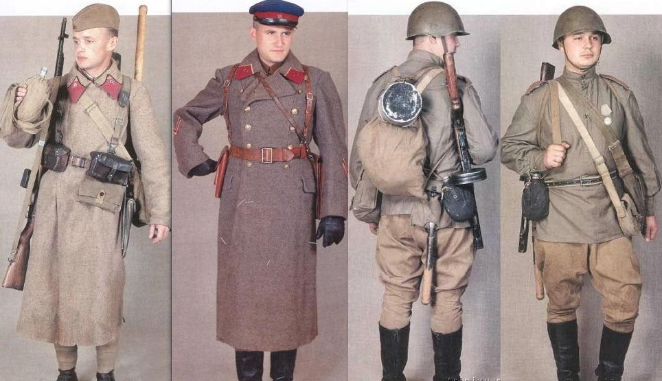 6593f9d530b49 Old Picz | Uniforms of Soviet army during the World War II | uniform ...