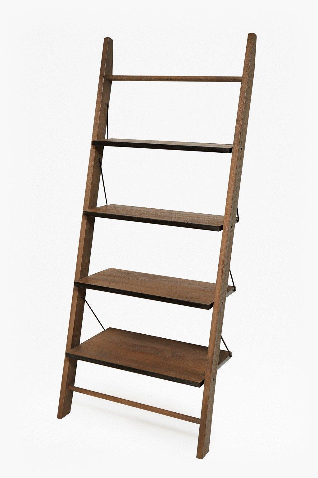 Wood Zinc Ladder Shelving With Images Shelves Wood Wooden