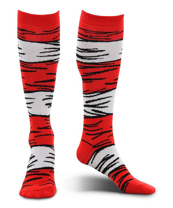 Look at this Cat in the Hat Costume Socks - Adult on #zulily today - dr seuss halloween costume ideas