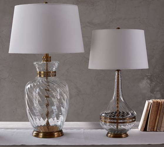 Glass Base Table Lamps Sabrina Twisted Glass Table Lamp Base  Bedroom Furniture Sources