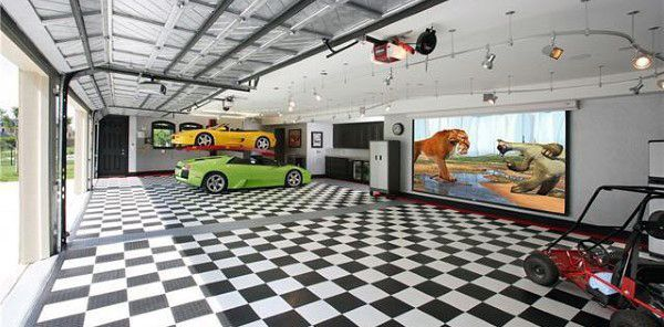 50 Man Cave Garage Ideas Modern To Industrial Designs House Plans Mansion Luxury Floor Plans House Plans